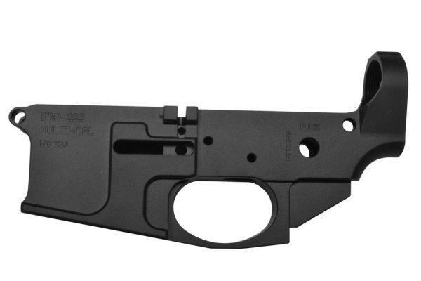 Noreen Firearms Stripped AR15 Lower, Billet