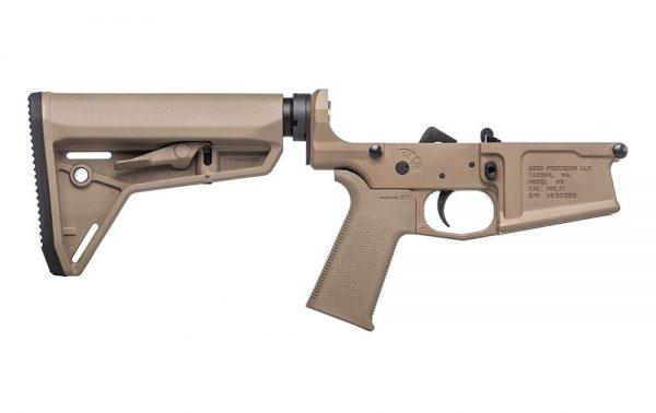 Aero Precision M5 Complete Lower Receiver w/ FDE MOE SL Grip & SL Carbine Stock - FDE Cerakote