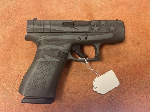 Glock 43X Distressed Flag 9mm