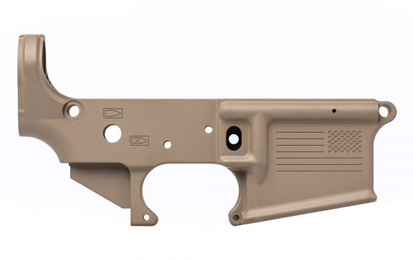 AR15 Aero Precision Stripped Lower Receiver, Special Edition: Freedom - FDE Cerakote