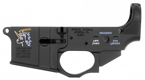 Spikes Snowflake Stripped Lower Receiver AR15 Color Filled STLS030CFA