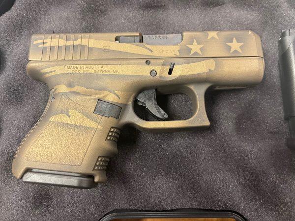Glock 26 Gen 3 Burnt Bronze Flag
